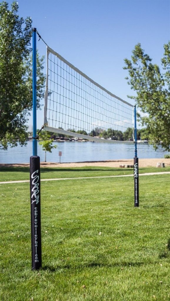 Cobra Outdoor Volleyball Net System setup in park