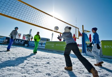 Enjoying Your Backyard Volleyball Net in the Winter